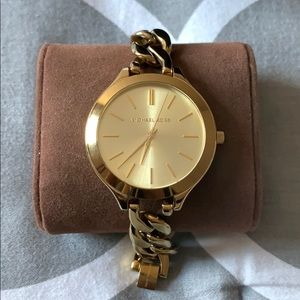 Michael Kors Slim Runway Champagne Watch